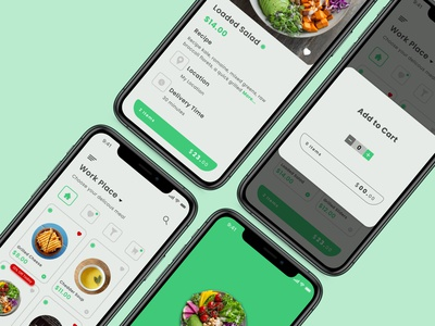 Food App uxui ui ux mobile ui mobile apps mobileappdesign mobileapp mobile app minimal interface app figma design