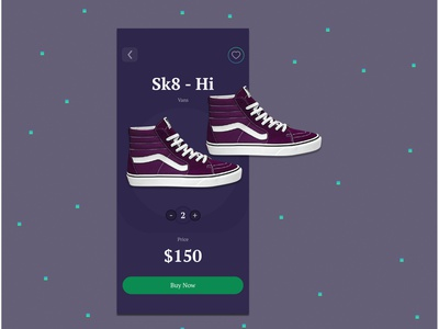Shoe Buying App Concept uxui ux mobile design mobile app app interface purple minimal ui design figma