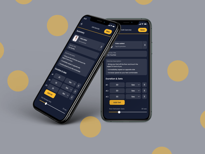 Fitness App dark blue gold ux mobile ui fitness app fitness app figma design