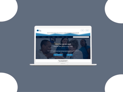 Healthcare Homepage ux logo blue website webdesign healthcare minimal ui figma design