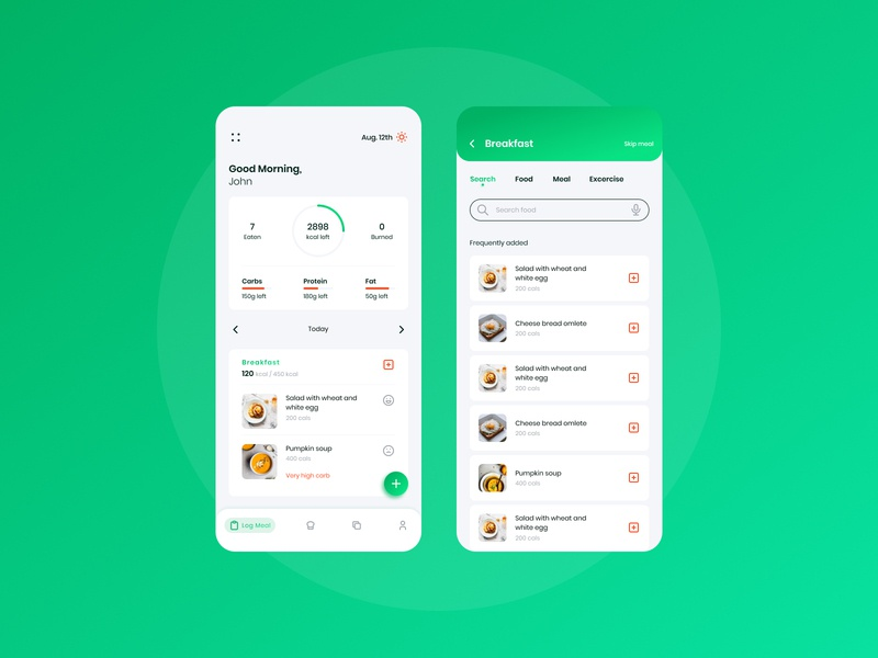 Nutrition app typogaphy products ui design nutritionist app design uxdesign nutrition nutrition app product design product creator illustration ui ux hello dribble app creative  design design 2020 dribbble