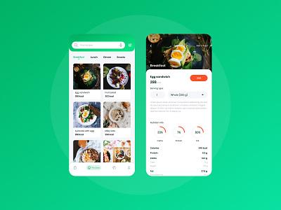 Nutrition app mobile ui app design nutrition app nutrition product design product uiux mobileapp mobile typography creator branding ux ui creative  design 2020 app dribbble design hello dribble