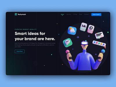Digital marketing website design 2020 creator creative  design app dribbble hello dribble