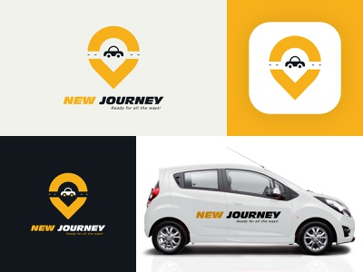 New Journey_logo app design app logogram cabservices car journey new cab logogrid logodesignchallenge logodesigner design artwork hello dribble logotype logo logodesign 2020 dribbble