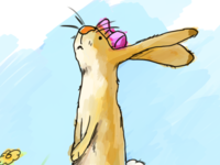 Nutbrown Hare  Birthday Card