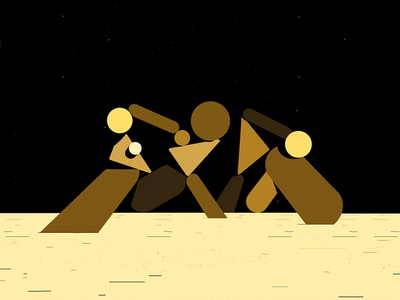 minimal figures motion color figures frame animation clip abstract cosmos