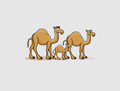 camel branding minimal desain logo flat illustration typography animation logo vector logodesign