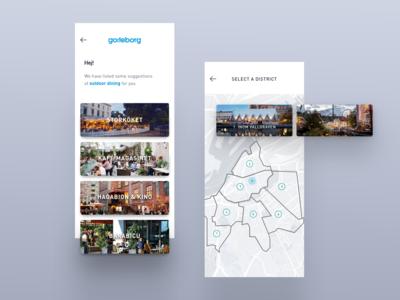 Travel app concept UX/UI