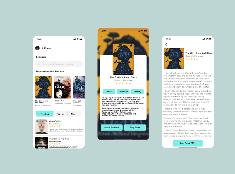 Reading App UI design concept