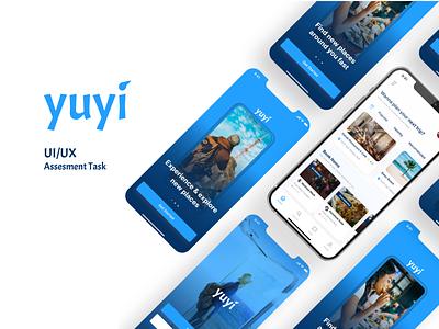Yuyi Mobile App animation travel ui