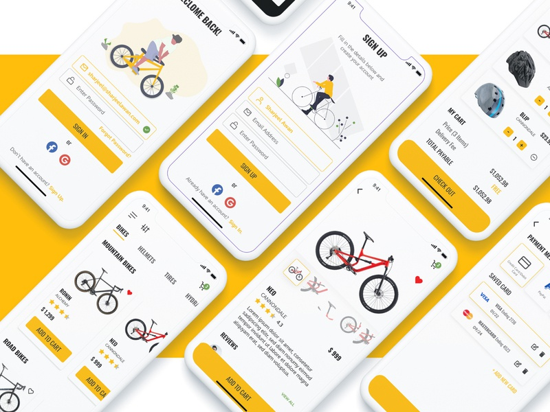 E-Commerce Mobile App Design mockup adobe illustrator adobe photoshop adobe xd logo app illustration minimal flat typography icon ux branding ui