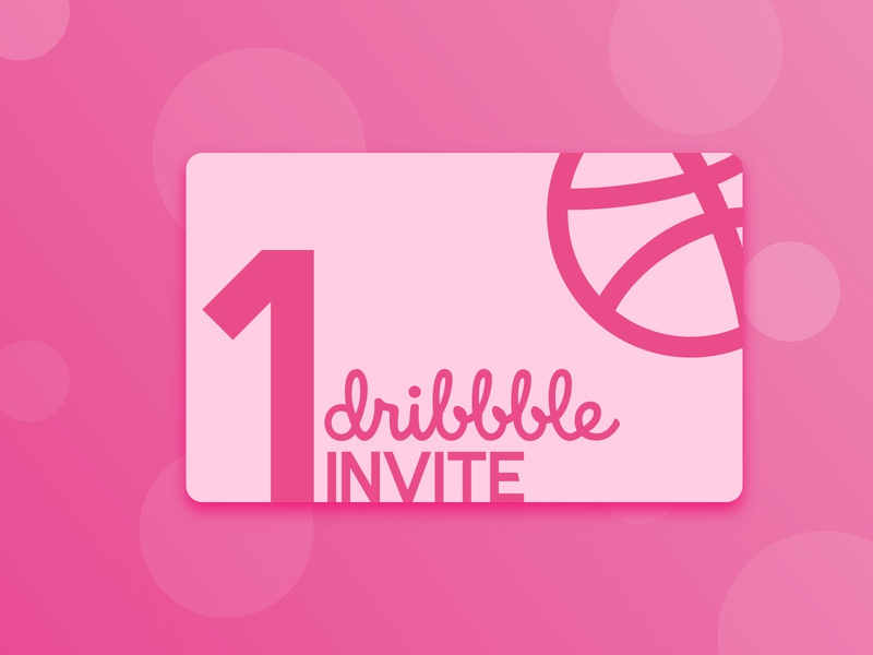 1x Dribbble Invite invite giveaway deibbble invite invite