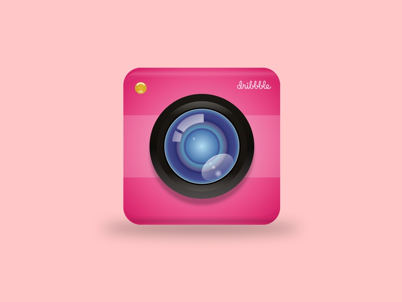 Dribbble Cam - Camera App Icon Design - #DailyUI icon camera app app icon design branding illustration adobe xd dailyui