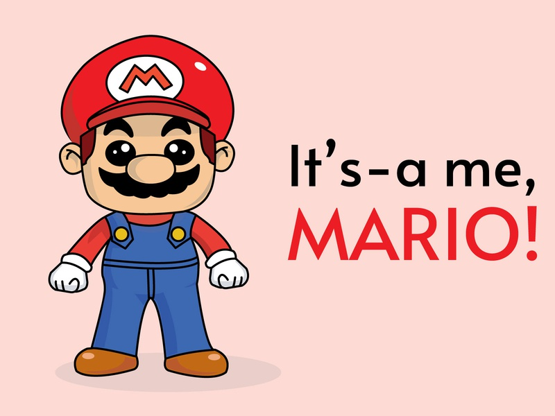 Mario! vector drawing cartoon character adobe illustrator illustration