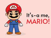 Mario! vector drawing cartoon character adobe illustrator illustration