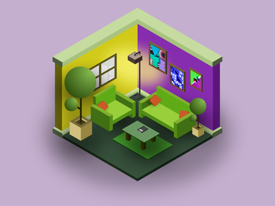 Isometric Room figma madewithfigma illustraion isometric design isometric illustration