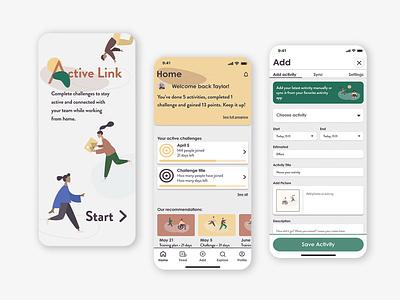 Active Link app uxdesign figma design app uidesign uiux nōirdiva