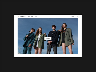New Bonboz website squarespace web design uiux uidesign ecommerce clothing brand bonboz design nōirdiva