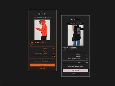 Daily UI 017 ecommerce bonboz clothing brand dailyuichallenge dailyui uidesign uiux nōirdiva