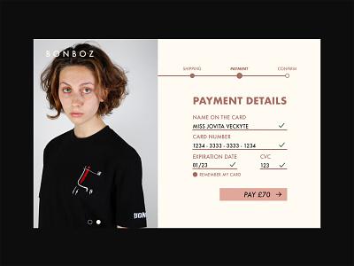 DAILY UI 002B daily002 clothing brand bonboz ecommerce uiux uidesign nōirdiva design dailyuichallenge dailyui