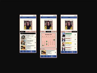 Daily UI 006 app myart app design profile page daily006 uiux uidesign nōirdiva design dailyuichallenge dailyui