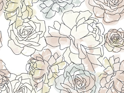 Abstract Watercolor Flowers illustrator flowers floral watercolor brush pattern
