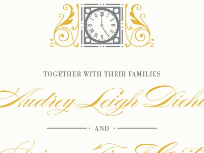 Denver Union Station Wedding Invitation