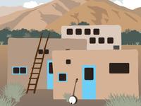 Taos Vintage Travel Poster