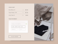 Daily UI 002 / Credit Card Checkout