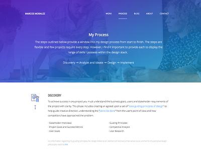 My Design Process portfolio design process