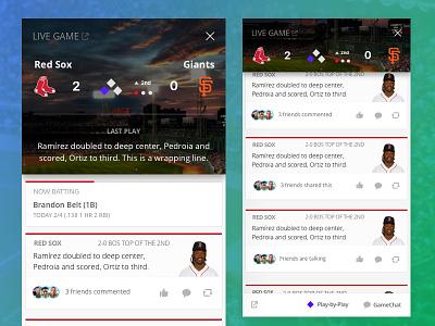 Sqor's MLB GameCenter interaction ios ui basebal mlb sports
