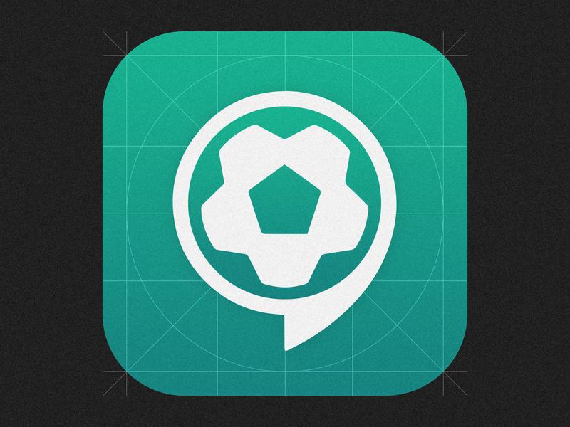 I Play Football App soccer badge footballer app icon icon design icon football soccer app soccer