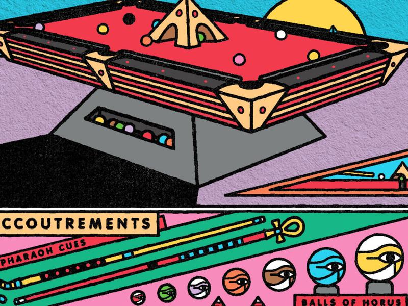the mummymaker concept pyramid pool billiards