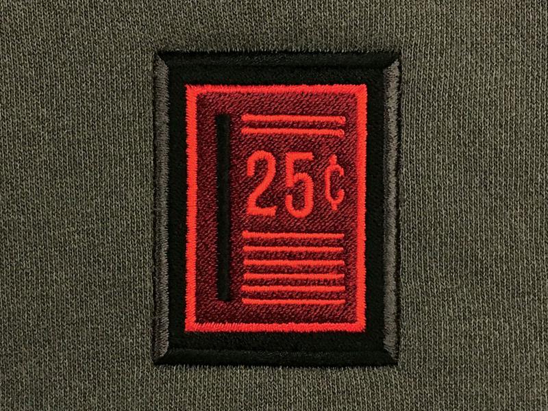 Slot Hoody embroidery slot quarter arcade
