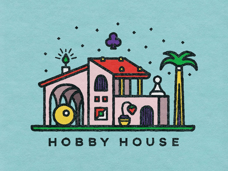 Hobby House villa mansion house candle cards chess palm pool billiards games hobby