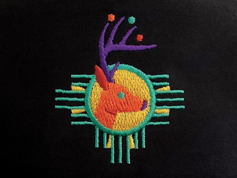 Cosmic Deer balls portrait southwest cosmic deer