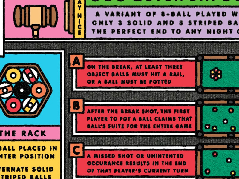 Quick Six tutorial rules guide hexagon pool billiards