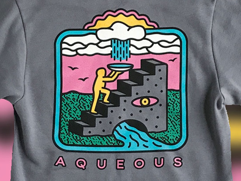 Gift From Above Hoody screenprint river stream life nature sun rain staircase stairs cycle