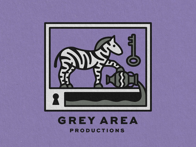 Grey Area Merch fluid vase pour key lock zebra