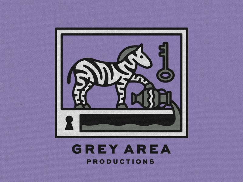 Grey Area Merch fluid vase pour key lock zebra