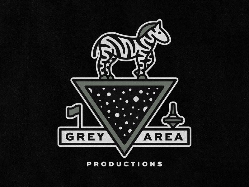 Grey Area - Space Crest crest top flag triangle space zebra