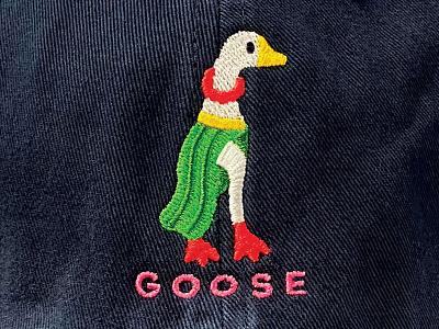hoola goose merch embroidery beak lei goose dancer hula