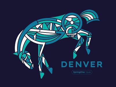 bronko graphic conference tech buck horse bronco denver