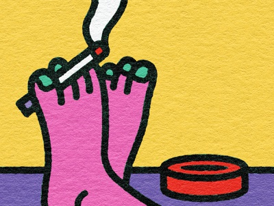 cigfoot toenails smoke chill relaxation rest feet foot ashtray cigarette