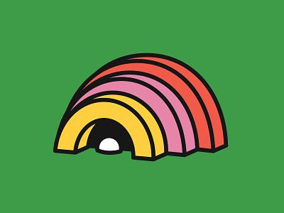 SPLITTER split venue amphitheater shell parts pieces cove pearl hut rainbow logo