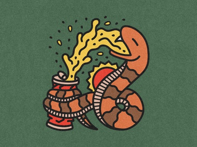 CAMP COTTONMOUTH can thirsty hot crush squeeze beer cottonmouth snake