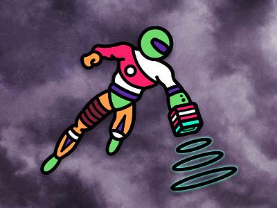 chalkman action salvation doom flight power rings chalk pool billiards hero super superhero