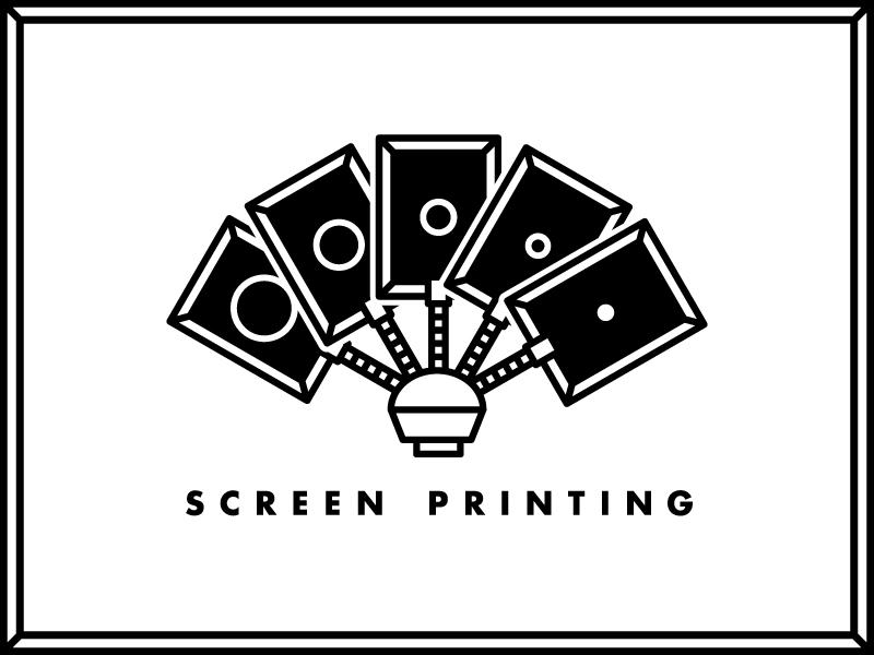 Screen Printing Icon poker playing robot silkscreen icon print screen