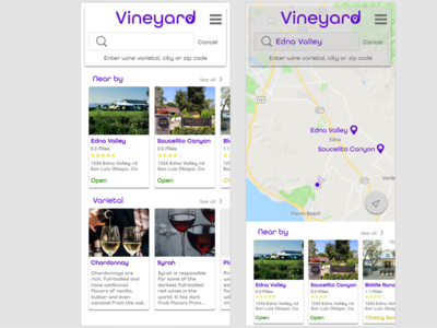 Vineyard Search Functions