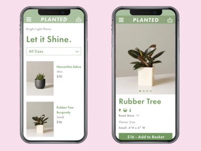Planted- product page